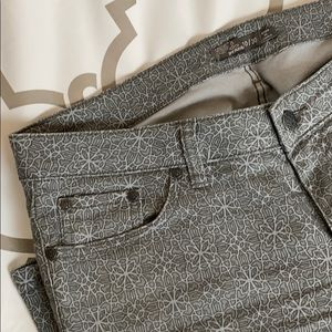 Prana jeans with print can be worn long or cuffed